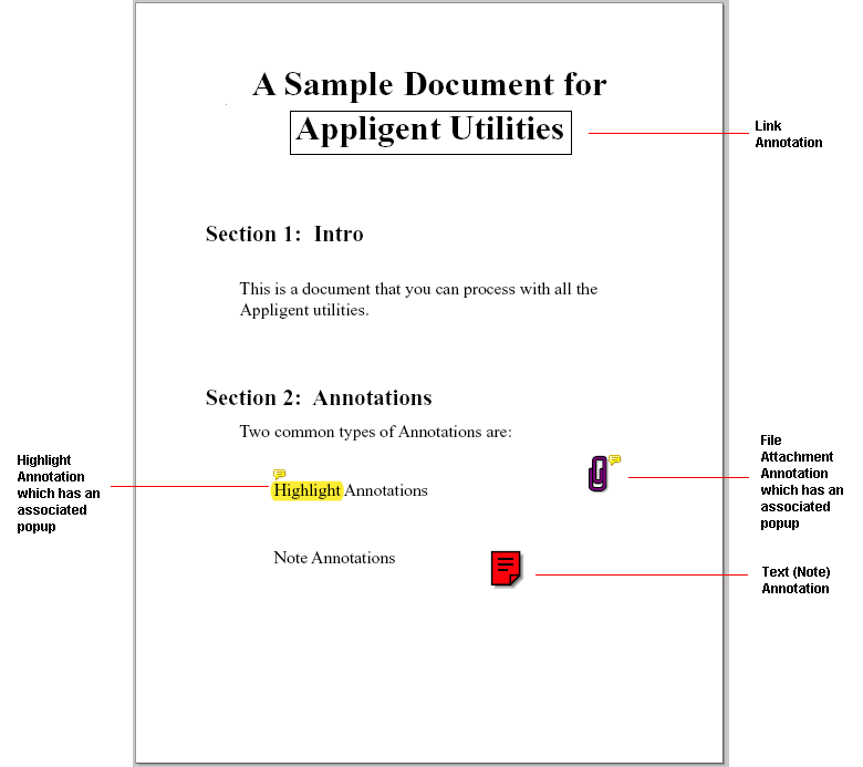 Annotations found on page 1 of Sample file