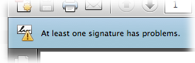 Message from self-signed certificate